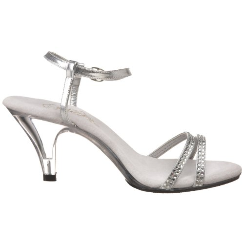 Fabulicious - Belle-316, Sandalo Zeppa da donna Argento (Silver)