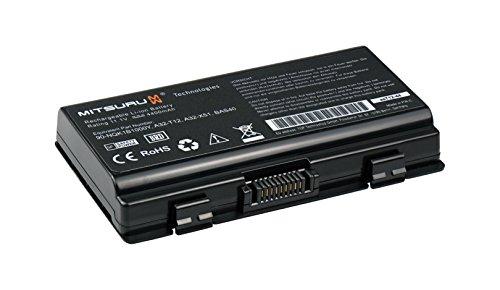 4400mAh Notebook Laptop Ersatz Akku Batterie für Asus A32-T12 A32-X51 T12 T12C T12Er T12Fg T12Mg T12Rg T12Ug X51 X51C X51L X51RL X58C X58L series ersetzt 70-NQK1B2000Z 90-NQK1B1000Y 90R-NQL1B1000Y - Laptop-externe Batterie-pack