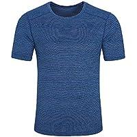Beikoard_ Camisetas de hombre de Secado rápido Manga Corta Transpirable Cuello Redondo Casual SG02(M-5XL)❤ Limitado Promoción_Tops Camisetas Ropa Hombre Deportivas Sudaderas Chándales 2018 Ofertas