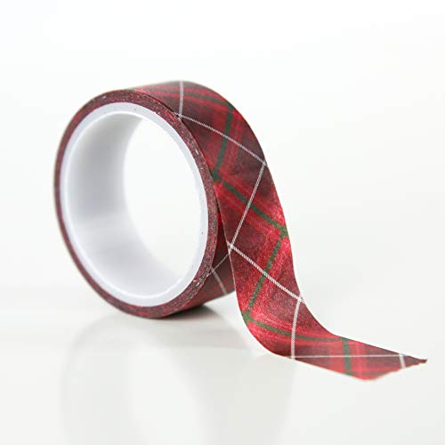 Echo Park Merry & Bright Decorative Tape 15'-Merry Plaid Park Plaid