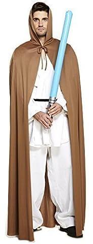 Pour Hommes Femmes Espace Warrior Brun Cape Jedi Star Wars Film Costume Déguisement - Marron, Standard