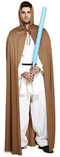 Herren Damen Fach Warrior Braun Umhang Jedi Ritter Star Wars Film Kostüm Kleid Outfit - Braun, (Outfit Jedi Wars Star)