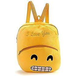 Yaldoendo Kids Emoji Mochila Party Bags para niños Niñas y jóvenes Ideal Party Bag Fillers Fiesta de cumpleaños Regalo simpático Emoji Emoticon Escuela de Hombro Child Bag Mochila Bolso Mochila Bolsa