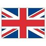 10 x Aufkleber Union Jack / UK-Fahne / Großbritannien-Flagge, 7,4 x 5,2 cm für innen und außen