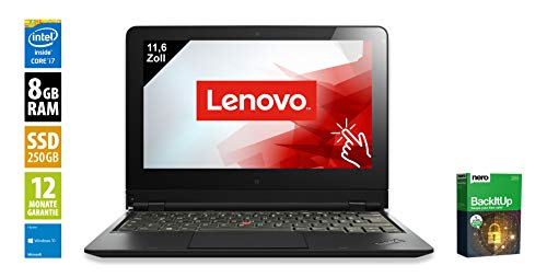Lenovo ThinkPad Helix | Tablet | 11,6 Zoll (1920x1080) | Intel Core i7-3667U @ 2,0 GHz | 8GB DDR3 RAM | 250GB SSD | Webcam | Windows 10 Home (Zertifiziert und Generalüberholt) Lenovo Thinkpad Combo