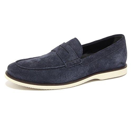 4374Q mocassino uomo HOGAN scarpa blu shoes loafer men [6.5]