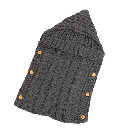SJD Confortable et doux Automne Et Hiver Infantile Fil Tricoté Sac de couchage Bouton Sac de couchage Photographie Câlin Couverture Poussette Sac de couchage