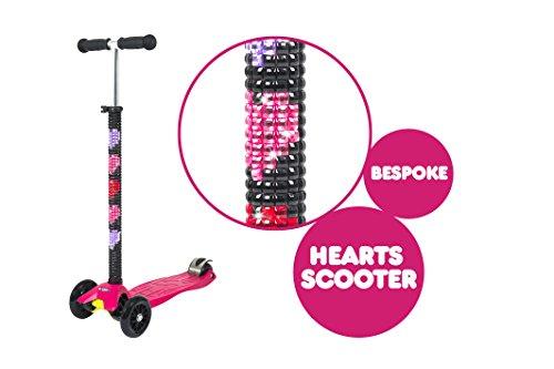 Micro Maxi Kickboard - Rosa - Mit Herzen Personalisierte (Maxi Micro Scooter Pink)