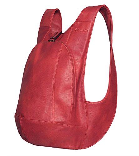 Sac à dos ARSAYO - Design, Confort, Sécurité (Rouge, Small)