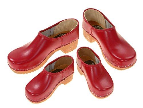 Berlin-zoccoli - zoccoli stipulati, colore: rosso Rot
