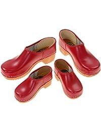 Berlin-zoccoli - zoccoli stipulati, colore: rosso