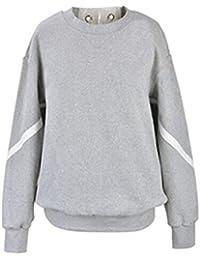 Gogofuture Felpa Donna Pullover Elegante Sweatshirt T-Shirt Manica Lunga  Cravatta Croce Blusa Rotondo Collo Maglietta Tops Taglie Forti… 4a95c3beea4