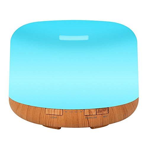 Y-YT Aromatherapie Luftbefeuchter Wood Grain Aroma Luftbefeuchter multifunktionale Ultraschall Luft Reiniger 500ml