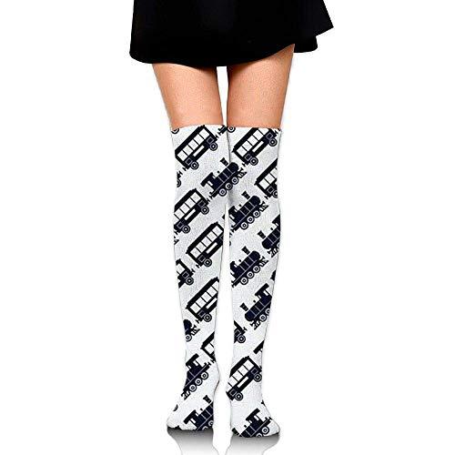 Gped Kniestrümpfe,Socken Women Over Knee High Socks,Emerald Palm Sport Cheerleader Tube Socks for Girls High Long Soccer Socks (Emerald Girl Kostüm)