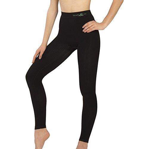 Body&co legging sportivo vita alta anticellulite con azione massaggiante
