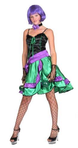 Can Can Tina Kostüm - Sexy Tanz Kostüm für Damen im Wilder Westen Saloon Cancan Stil Gr. 32 34