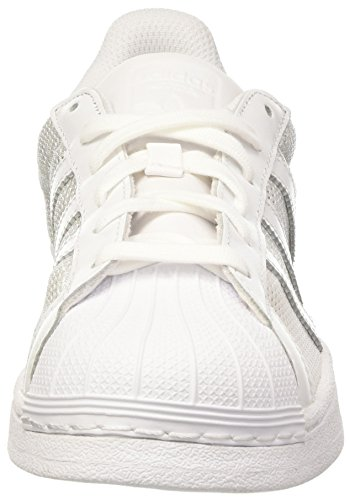 adidas Superstar, Baskets Basses Mixte Adulte Bianco (Ftwwht/Ftwwht/Ftwwht)