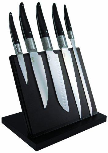 Laguiole-Production-443930-Laguiole-Expression-Bloc-Aimant-de-5-Grand-Couteaux-Cuisine-Laguiole-Manche-Pom