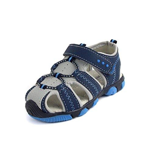 OverDose Jungen Sandalen Casual Kinder Schuhe Baby Jungen Geschlossene Zehe Sommer Strand Sandalen flache Schuhe Blau