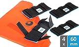 valonic Kantenschutz für Spanngurte, hochwertig, 4 Stück + robuste Tasche, Gurtbreiten bis 60mm, Spanngurtschoner, Zurrgurtschoner, Spanngurtschutz für Transport, Transportschutz, Kantenschoner