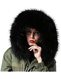 XXL Cuello Desmontable Cuello de piel Capucha Parka bufanda abrigo 11colores