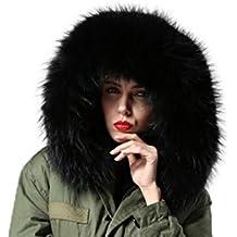 XXL Cuello Desmontable Cuello de piel Capucha Parka bufanda abrigo 11 colores