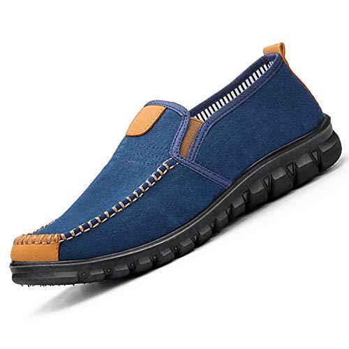 Hombres Confort Casual Zapatillas de Deporte para Caminar Vintage Zapatos Transpirables para Botines Mocasines al Aire Libre para Interiores Zapatillas de conducción