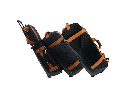 Club gant de cuisine 4 pièces premium reisegepäckset ensemble en carryOn handgepäcktrolley shoulder bag, rolling duffle sac de voyage pour ordinateur portable et rolling duffle sac de voyage xL, Black (Schwarz) (Noir) - CG-Ensemble-4