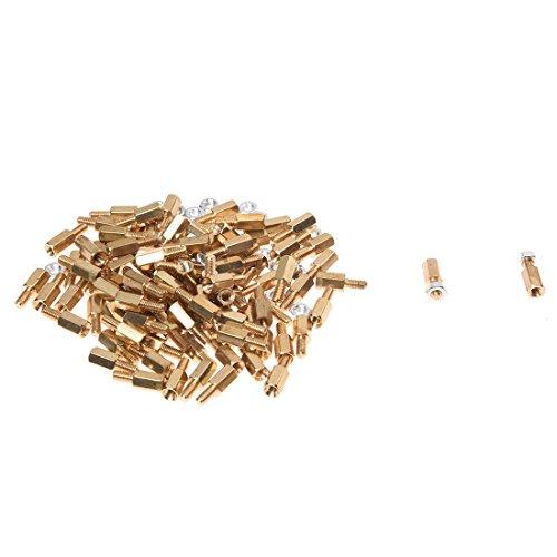 TOOGOO(R) 100Pcs M3x6mm Male Female Thread Hex Standoff Spacer 8mm Body Length
