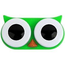Kontaktlinsenbehälter Owl grün
