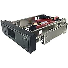 """GLOTRENDS 3,5"""" auf 5,25"""" Wechselrahmen mit Sata-Kabel, Einbaurahmen für 3,5"""" Festplatten Interne SATA I/II/III HDD, 5,25"""" Laufwerksschacht Adapter für Desktop-PC Computer CD-/DVD-ROM, Rostfreier Stahl"""
