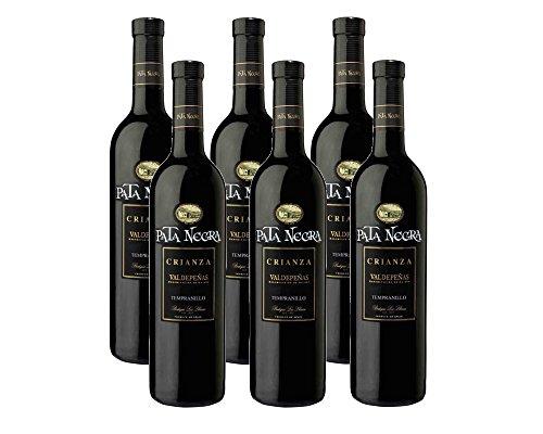 Pata Negra Crianza Valdepeñas Vino Tinto - 6 Botellas X 750 Ml - Total: 4500 Ml