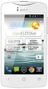 Acer Liquid Z3 Duo Smartphone dual-sim écran 3,5 pouces Android 4.2 mémoire 4 Go Blanc