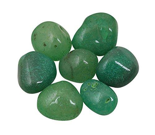 Green Garden Collection (Prisha Emerald Green Decorative Stones, Pebbles,Glossy Stones for Home Decor, Garden, Vase Filler, 2.2 Pounds)