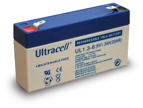 Wentronic Blei-Akku (Ultracell) 6 V, 1,3 Ah (Faston 187-4,8mm )