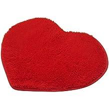Antideslizante alfombra, favolook Lovely forma de corazón antideslizante silla cojín asiento Pad alfombrilla de suelo para suelo baño jardín Patio sofá Tatami decoración