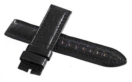 Jaeger Lecoultre mens Black Genuine Alligator Leather Watch Band 22 mm x...