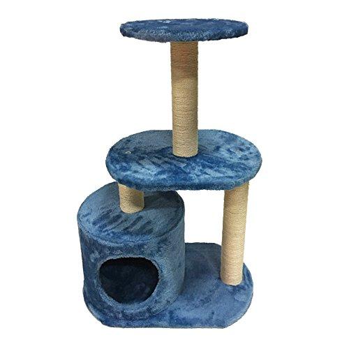 LuckyPet Rascador para gato Arbor Juguete Azul Beige Afilador Centro juego Animales Mascotas (Cod. LU8042)