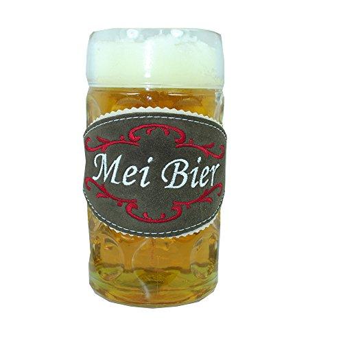 Mei Bier Glasmarkierer Biertracht für Maßkrug 1l - Biertracht Echtes Männergeschenk mit rot