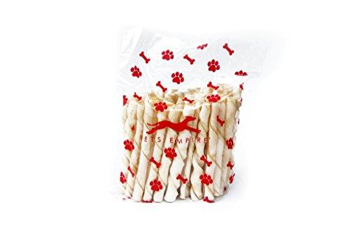 Pets Empire Dog Twisted White Sticks Treats, 1 kg