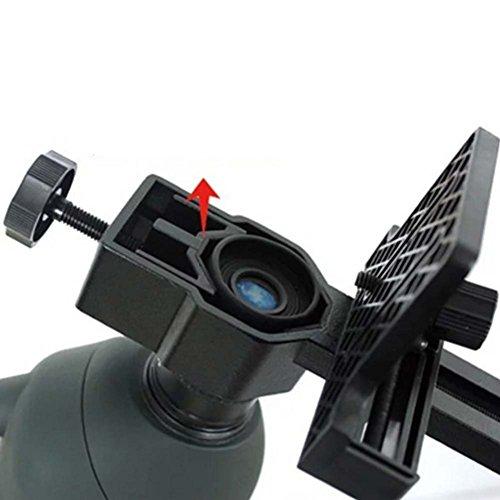 UxradG Teleskop Kamera Halterung, Universal Digital Kamera Adapter Mount Ständer für Spektive Spektiv Teleskop, Schwarz, Schwarz Universal-digital-kamera-adapter