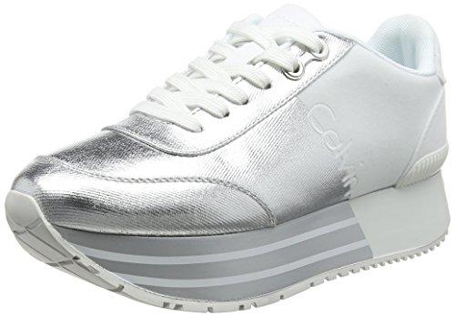 Calvin Klein Jeans Colette Nylon/Suede, Zapatillas para Mujer, Azul (LBL 000), 41 EU