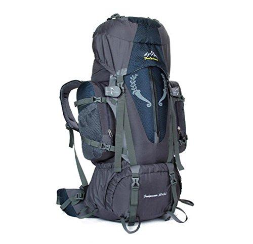 SZH&BEIB Wanderrucksack Extra Large Kapazität 85L für Outdoor-Reisen Bergsteigen Tasche wasserdicht Nylon F