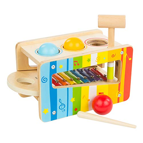 Play & Learn - Juego martillo xilófono madera ColorBaby