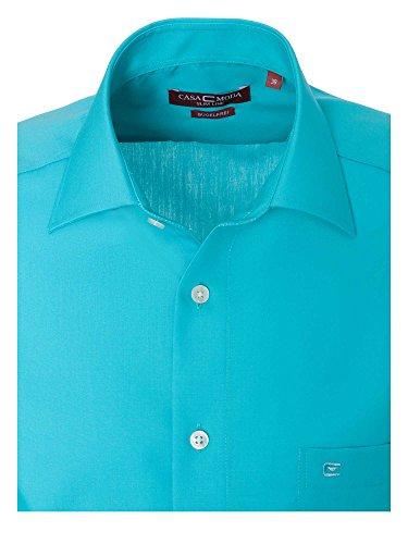 CASAMODA Messieurs Chemise d'affaires slim fit 100 % coton Turquoise