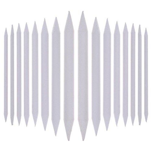 Eshylala, Weiße Stifte, Papierwischer zum Verblenden von Übergängen, Bearbeiten von Konturen von Zeichnungen, Skizzen, Tortillons, in 8 verschiedenen Größen, 8 Stück 16 Pcs