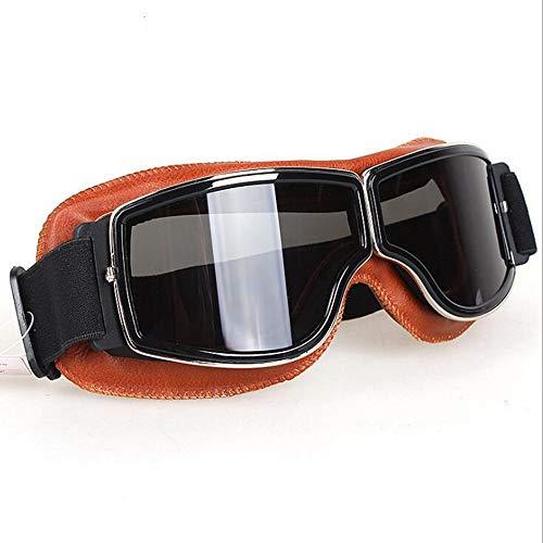 Gafas de motocicleta Dirt Bike Motocross Anti-UV Gafas de montar para estilo piloto de aviador Motocicleta Touring Medio casco Deportes al aire libre Activos