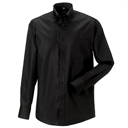 Russell Kollektion Langarm Absolut Iron Shirt - Black - 14.5