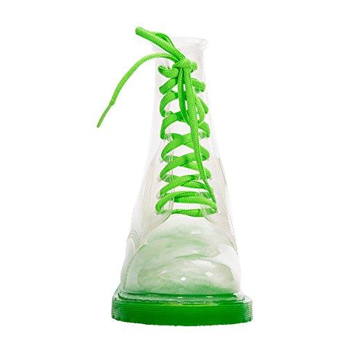 JellyJolly Martin Bottes de Pluie Imperméable pour Femme semelle verte