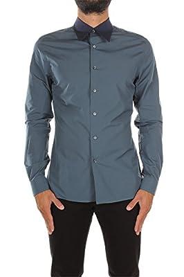 UCM962AVIODENIM Prada Shirts Men Cotton Blue